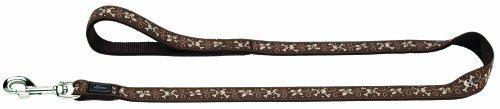 Artikelbild: Führleine Krazy Scull Flower 25/100 Band braun gebuggt/Nylon braun