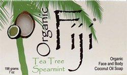 Organic Fiji Organic Coconut Oil Face And Body Soap Tea Tree Spearmint, Tea Tree Spearmint, 240 Grm