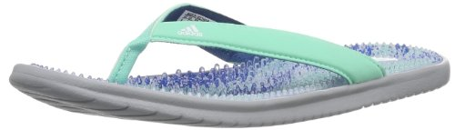 Adidas Womens Adissage Thong Graphic Water Shoes multi-coloured Mehrfarbig (tribe blue s14/running white/wonder mint s14) Size: 42