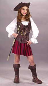 High Seas Buccaneer Grl Medium Costume