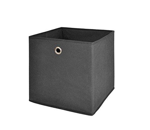 Mbel-Akut-Faltbox-4er-Set-in-anthrazit-Aufbewahrungsbox-fr-Raumteiler-oder-Regale