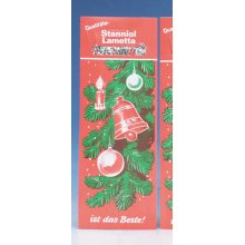 Christmas Lametta Heavy Metal Tinsel Icicles - Silver