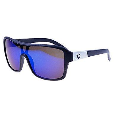 Xs Unisex Blue Revo Lens Frame Shield Sunglasses (Assorted Colors) , Black
