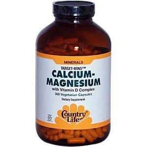 Country Life - Cal Mag + D - 360 vegetarian capsules ( Multi-Pack)