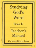 Studying Gods Word G Teachers Manual