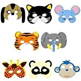 Pack of 24 Animal Foam Childrens Face Masks