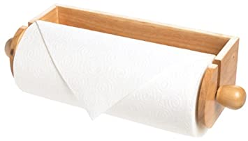 wooden wall paper towel holder