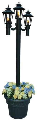 Williamsburg 590 Black Citronella Park Planer Lamp, 83-inches Tall