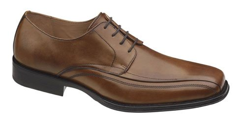 Johnston & Murphy Men's Harding Oxford,Tan Italian Calfskin,10.5 W US