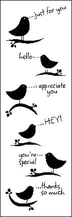 Tiny Bird Messages Clear Rubber Stamp Set - CL064