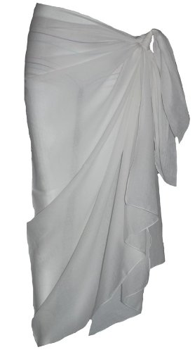 Plain White Cotton Sarong