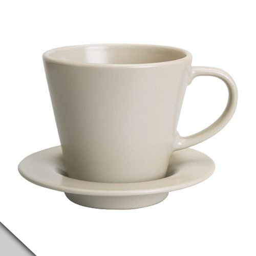 Ikea - Dinera Coffee Cup And Saucer, Beige (6 Sets)