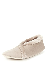 M&S Collection Crossover Faux Fur Bootie Slippers