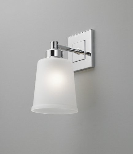 Norwell Lighting 9631 Ch Fr Gu Chrome With Frosted Glass Mode 1 Light Fluorescent Wall Sconce From The Mode Collection Doyle L Smithero