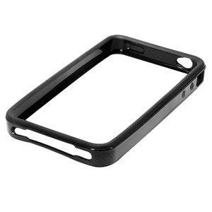 Invero Black TPU Signal Booster Bumper Silicone Case Cover for Apple Iphone 4 4G HD