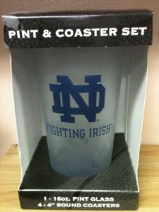 Ncaa Officially Licensed University Of Notre Dame Fighting Irish Pint And Coaster Set front-477601