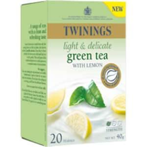Twinings Green Tea with Light Delicate with Lemon 20 Btl.