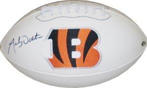 Andy Dalton signed Cincinnati Bengals Logo Football- Dalton Hologram pete rose signed autographed cincinnati reds stat jersey jsa coa