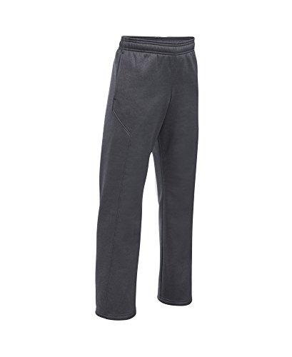 Under Armour Boys' Storm Armour Fleece Big Logo Pants, Carbon Heather (090), Youth Large