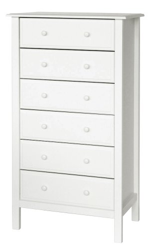 cheap 6 drawer white dresser