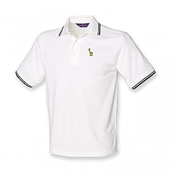 Kids Little Giraffe Logo Polo Shirt White With Navy