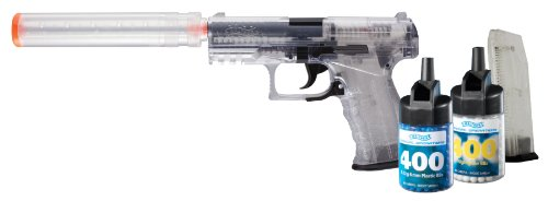 Walther PPQ Spring Airsoft Pistol Kit with Accessories, Clear (Airsoft Guns Fps 400 compare prices)