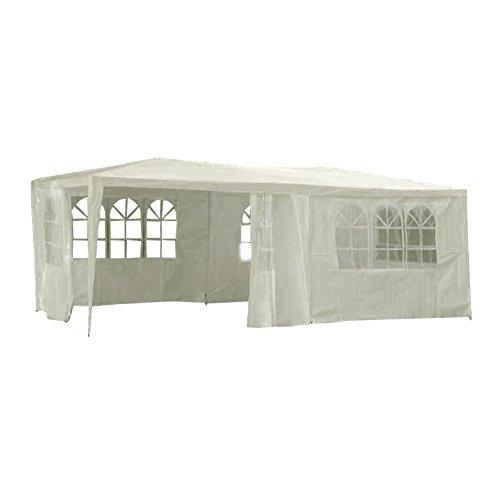 XXL Pavillon Festzelt Partyzelt mit Fenster inklusive Seitenwände 6x3xH2,5m