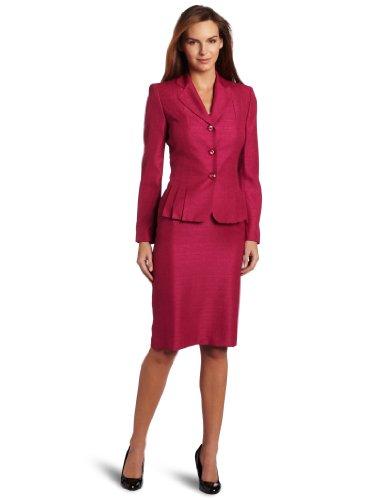 Lesuit Women's Shimmer Tweed Skirt Suit