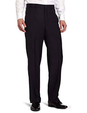 Joseph Abboud Men's Tic Flat Front Dress Pant, Navy, 30x32