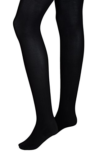 Intimate Portal Women Adjustable Maternity Opaque Tights 3-pk Black Blue Brown