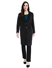 M&S Collection Wool Rich Duster Coat with Cashmere