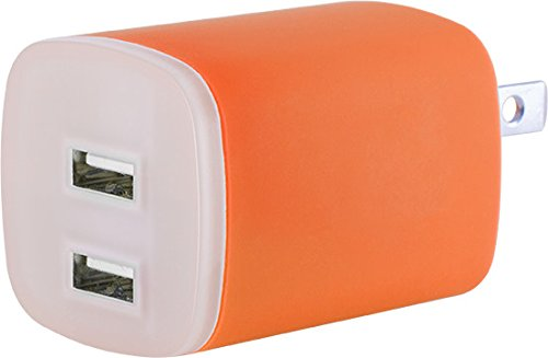 GE 11313 USB LED Night Light Charging Station with 2 USB Outlets