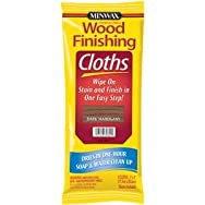 Minwax 308240000 Minwax Wood Stain & Finish Wipes-DK MAHOGANY STAIN CLOTH