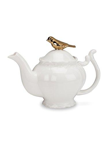 Abbott Collection Gold Bird and Branch Teapot, 9