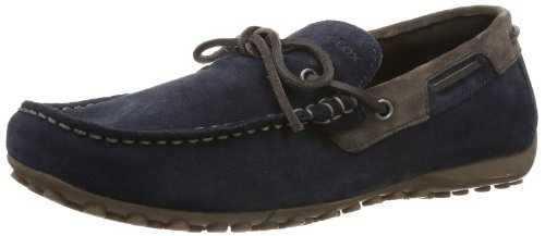 Geox Mens U Snake Moc. I Loafers U4207I22C4149 Dark Navy/Ebony 8 UK, 42 EU
