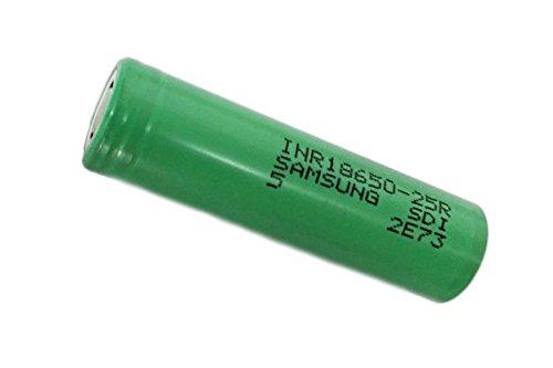 2 piles Samsung INR18650-25R - 18650 Li-Ion LiNiMnCoO2 2500 mAh / 10C (OEM) - découvert