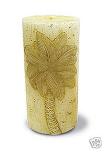 Hawaiian Sculpted Candle Palm 3 x 6 in.