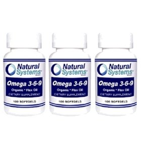 Natural Systems 3 Pack Omega 3 6 9 100 Softgels Cardiovascular Brain Health