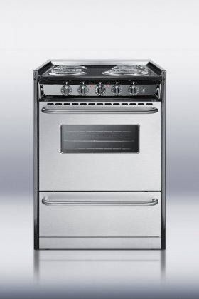 "TEM610BRWY Professional 24"" Electric Range With Stainless Steel Manifold Stainless Steel Oven Door"