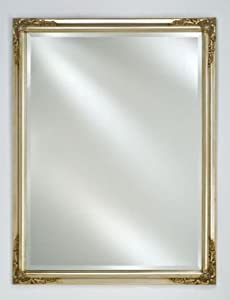 "Estate Collection Rectangular Framed Wall Mirror Finish: Antique Silver, Size: 16"" x 22"""