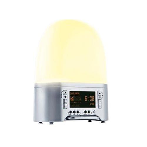 Medisana 45100 SAC Licht-Wecker mit künstlichem Sonnenaufgang und 8 natürlichen Klängen