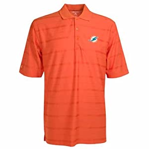 Miami Dolphins Tonal Polo by Antigua