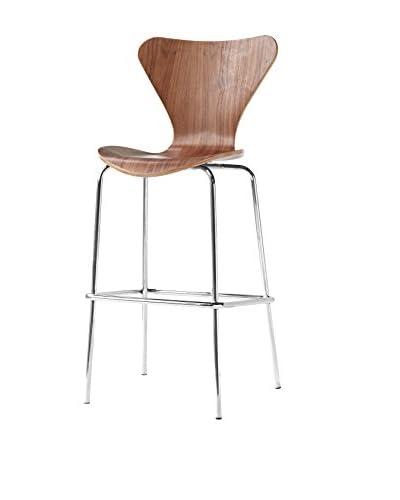 Manhattan Living Jays Bar Stool Chair, Walnut