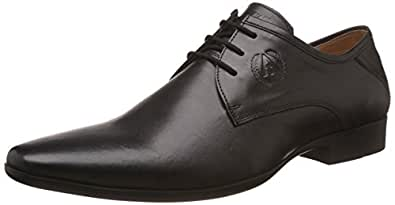 Alberto Torresi Men's Devin Black Leather Formal Shoes - 10 UK/India (44 EU)