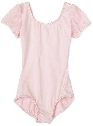 Capezio Little Girls' Puff Sleeve Leotard,Pink,S (4-6) front-848237