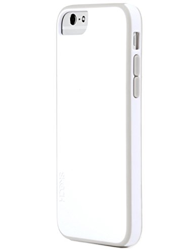 "Skech Ice Series Slim Lightweight Shock Absorbent Case for iPhone 6 4.7"" (White-Gray)"