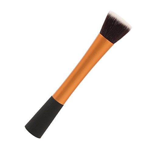 Pinceau de Maquillage Plat Outil Cosmétique pour Fond de Teint Poudre Fard à Joues - Noir Doré
