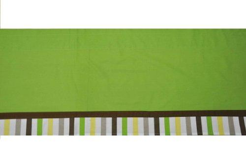 Imagen de Bacati - puntos de la MOD verde, amarillo y chocolate 9 Ropa de cama Cuna Pc Set W / o parachoques