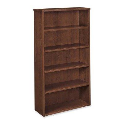 Basyx 5-Shelf Bookcase, 35-5/8 by 13 by 66-Inch, Mahogany Basyx 3 Shelf Bookcase