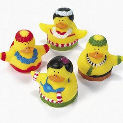 12 Hula Dancer Rubber Duckies front-1014379